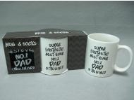 Ceramic mug & Socks giftset for Father Day