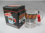 beer glass with whistle for Father Day